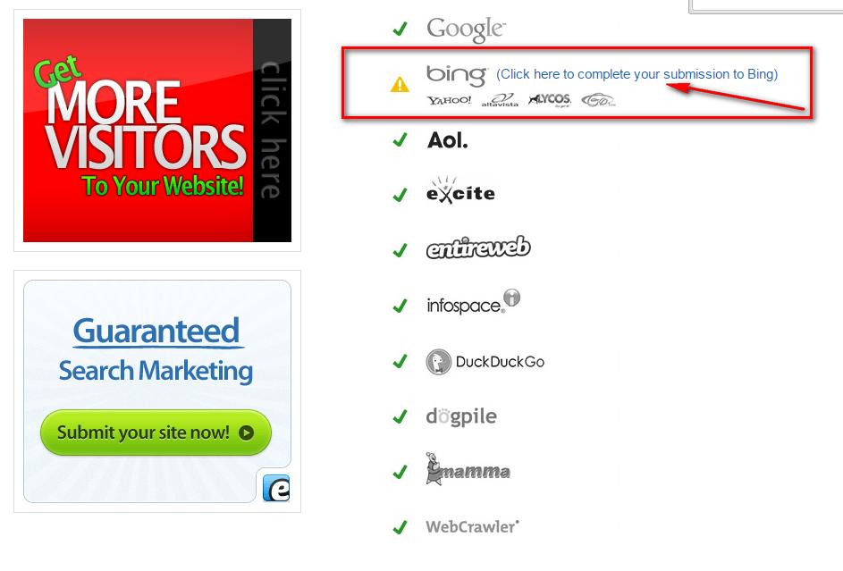 الطريقة الصحيحة  لنشر موقعك على اكبر محركات البحث !  !